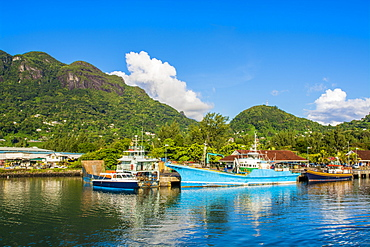 Victoria Harbour, Mahe, Republic of Seychelles, Indian Ocean, Africa