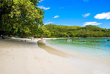 Port Launay beach, Port Launay Marine Park, Mahe, Republic of Seychelles, Indian Ocean, Africa
