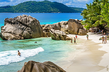 Anse Severe beach, La Digue, Republic of Seychelles, Indian Ocean, Africa
