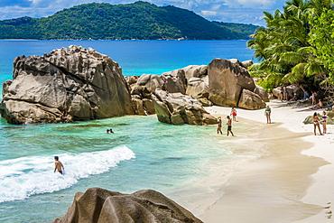 Anse Severe beach, La Digue, Republic of Seychelles, Indian Ocean, Africa