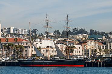 Star of India clipper ship (bark), Seaport Village, San Diego, California, United States of America, North America