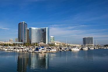 The San Diego skyline and harbor, San Diego, California, United States of America, North America