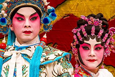 Chinese Opera performers, Ko Shan Theatre, Kowloon, Hong Kong, China, Asia
