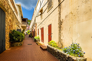 Shopping district downtown Charlotte Amalie, St. Thomas, US Virgin Islands, Caribbean