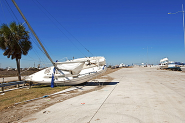 Hurricane damage, Galveston, Texas, United States of America, North America