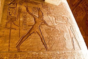 Detail, Abu Simbel, UNESCO World Heritage Site, Nubia, Egypt, North Africa, Africa