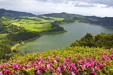 Lagoa das Furnas crater in Furnas, San Miguel, Azores, Portugal, Europe