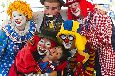 Clowns at the annual Great Circus Parade, Milwaukee, Wisconsin, United States of America, North America