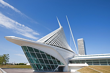The Quadracci Pavilion of the Milwaukee Museum of Art, Milwaukee, Wisconsin, United States of America, North America