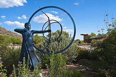 Artwork at Taliesin West, Frank Lloyd Wright's winter home, Scottsdale, Arizona, United States of America, North America