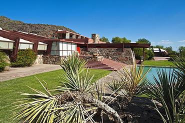 Taliesin West, Frank Lloyd Wright's winter home, Scottsdale, Arizona, United States of America, North America