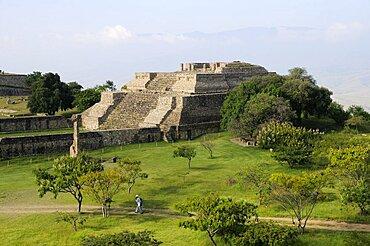 Mexico, Oaxaca, Monte Alban, Sistema IV building.