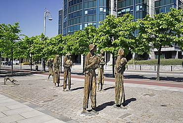 Ireland, County Dublin, Dublin City, The famine memorial presented to the city in 1997.