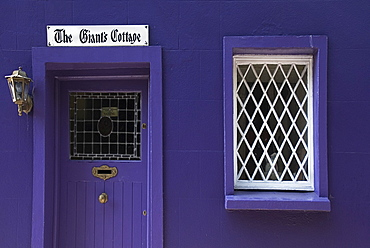 Ireland, County Cork, Kinsale, Terrace cottage known as the Giants Cottage.