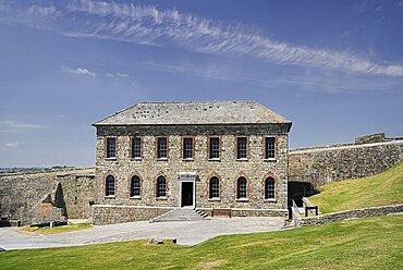 Ireland, County Cork, Kinsale, Charles Fort museum building built 1678.
