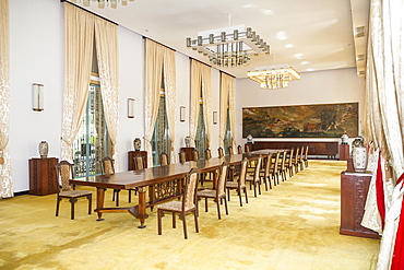 Vietnam, Ho Chi Minh City, Banqueting room in Reunification Hall.