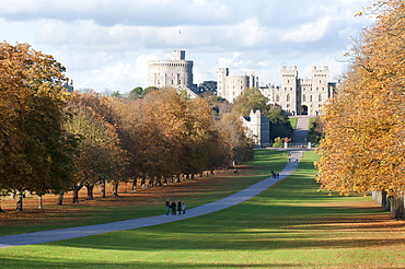 England, Berkshire, Windsor, The long walk leading to the castle.