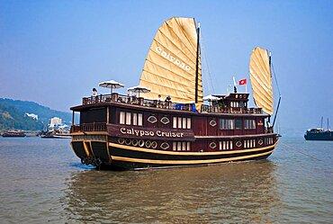 Vietnam, Ha Long Bay,, Gulf of Tonkin Cruise Ship in the Ha Long Bay.