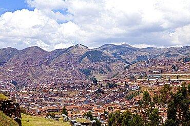 Peru, Cuzco, Overlooking the City.