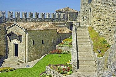 Republic of San Marino, San Marino City, La Rocca O Guaita or First Tower.