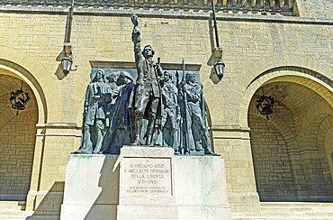 Republic of San Marino, San Marino City, Girolamd Gozi Statue.