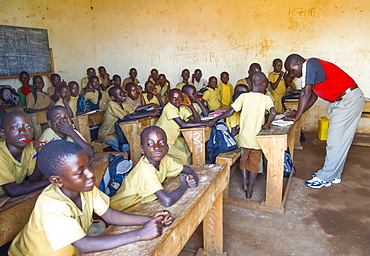 Burundi, Cibitoke Province, Buganda, Ruhagurika Primary Students in their Catch-Up Class. Catch up classes were established by Concern Worldwide across a number of schools in Cibitoke to provide a second chance for children who had previously dropped out of school.