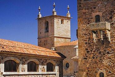 Spain, Extremadura, Caceres, Tower of Santa Maria Cathedral.