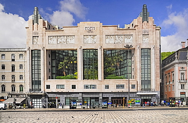 Portugal, Estremadura, Lisbon, Art Deco exterior of the former Eden theatre now a hotel.