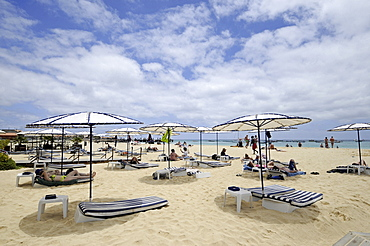 Cape Verde Islands, Sal Island, Santa Maria, Santa Maria Beach.