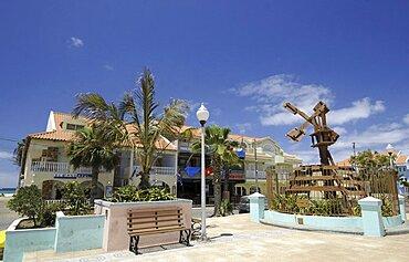Cape Verde Islands, Sal Island, Santa Maria, Local architecture.