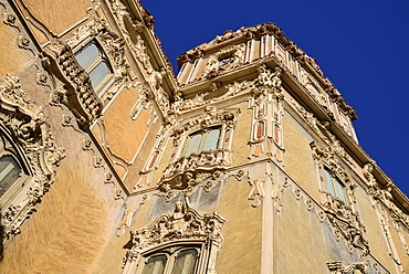 Spain, Valencia Province, Valencia, 15th century Palacio de Marques de Dos Aguas now the National Ceramics Museum or Museo Nacional de Ceramica, Some of the building's elaborate stonework.