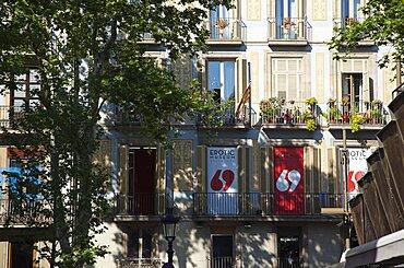 Spain, Catalonia, Barcelona, La Rambla, Exterior of the Erotic Museum.
