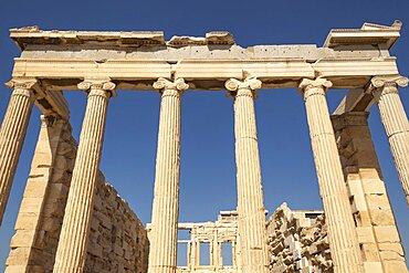Greece, Attica, Athens, The Erechtheion, at the Acropolis.,