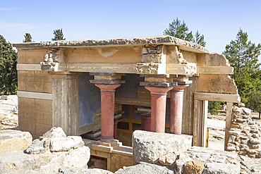 Greece, Crete, Knossos, The North Lustral Basin building, Knossos Palace.