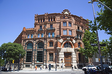 Spain, Catalonia, Barcelona, Old building restored in the Exiample district.