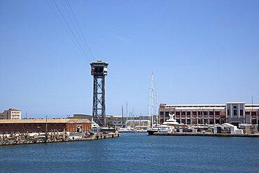 Spain, Catalonia, Barcelona, View across Port de la Pau in the harbour.