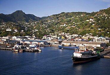 Saint Vincent and the Grenadines, Saint Vincent, Kingston, View over the port.
