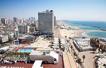 Israel, Tel Aviv, Herod Hotel on Gordon Beach, Ha'yarkon Street.