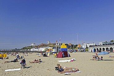 England, Dorset, Bournemouth Beach and Pier.