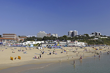 England, Dorset, Bournemouth Beach viewed from the Pier.