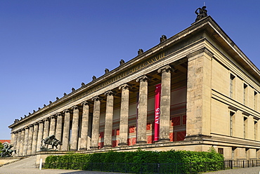 Germany, Berlin, Altes Museum, Old Museum, Angular view of the facade from the Lustgarten.