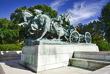 USA, Washington DC, Capitol Hill, Ulysses S. Grant Memorial, The Artillery Group.
