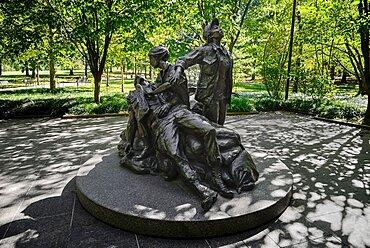 USA, Washington DC, National Mall, Vietnam Women's Memorial.