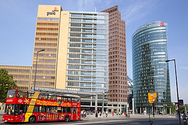 Germany, Berlin, Mitte, Potsdamer Platz, Modern office buildings.