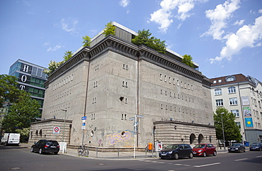 Germany, Berlin, Mitte, The Bunker based on plans of the architect Karl Bonatz, it was constructed in 1943 by Nazi Germany to shelter up to 3,000 Reichsbahn train passengers, Christian Boros purchased the bunker for his private collection of contemporary art.