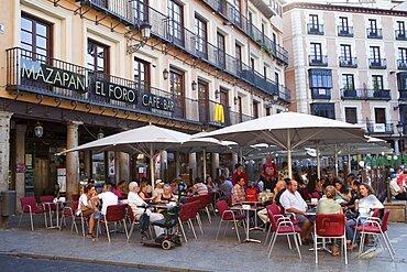 Spain, Castilla La Mancha, Toldeo, The Mazapan El Foro Cafe on thePlaza de Zocolover.