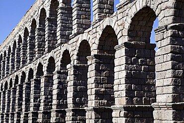 Spain, Castille-Leon, Segovia, Roman Aqueduct.