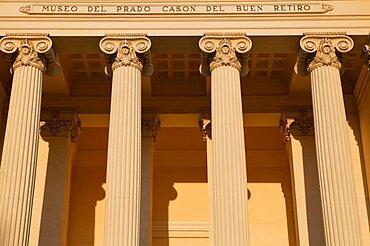 Spain, Madrid, Museo del Prado Cason del Buen Retiro.