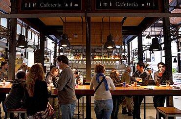 Spain, Madrid, Mercado de San Miguel.