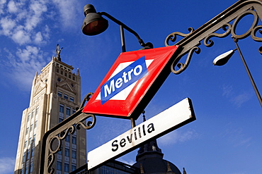 Spain, Madrid, Sevilla Metro Station on Gran Via